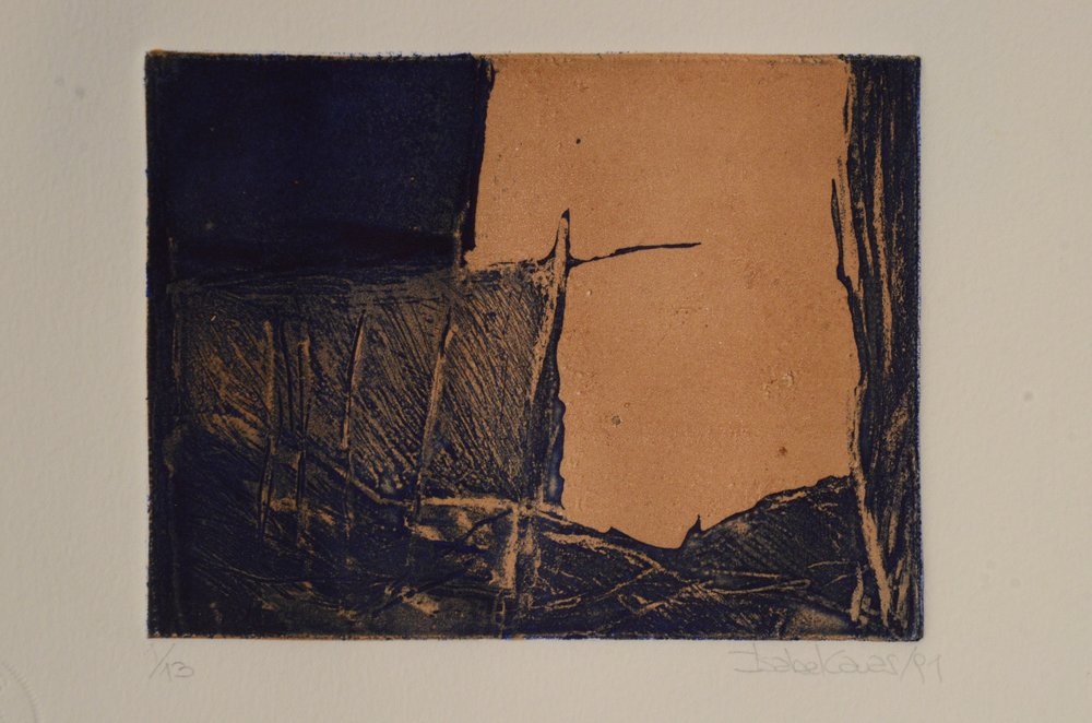 Isabel Cauas  Etching with surface roll  Etching 1