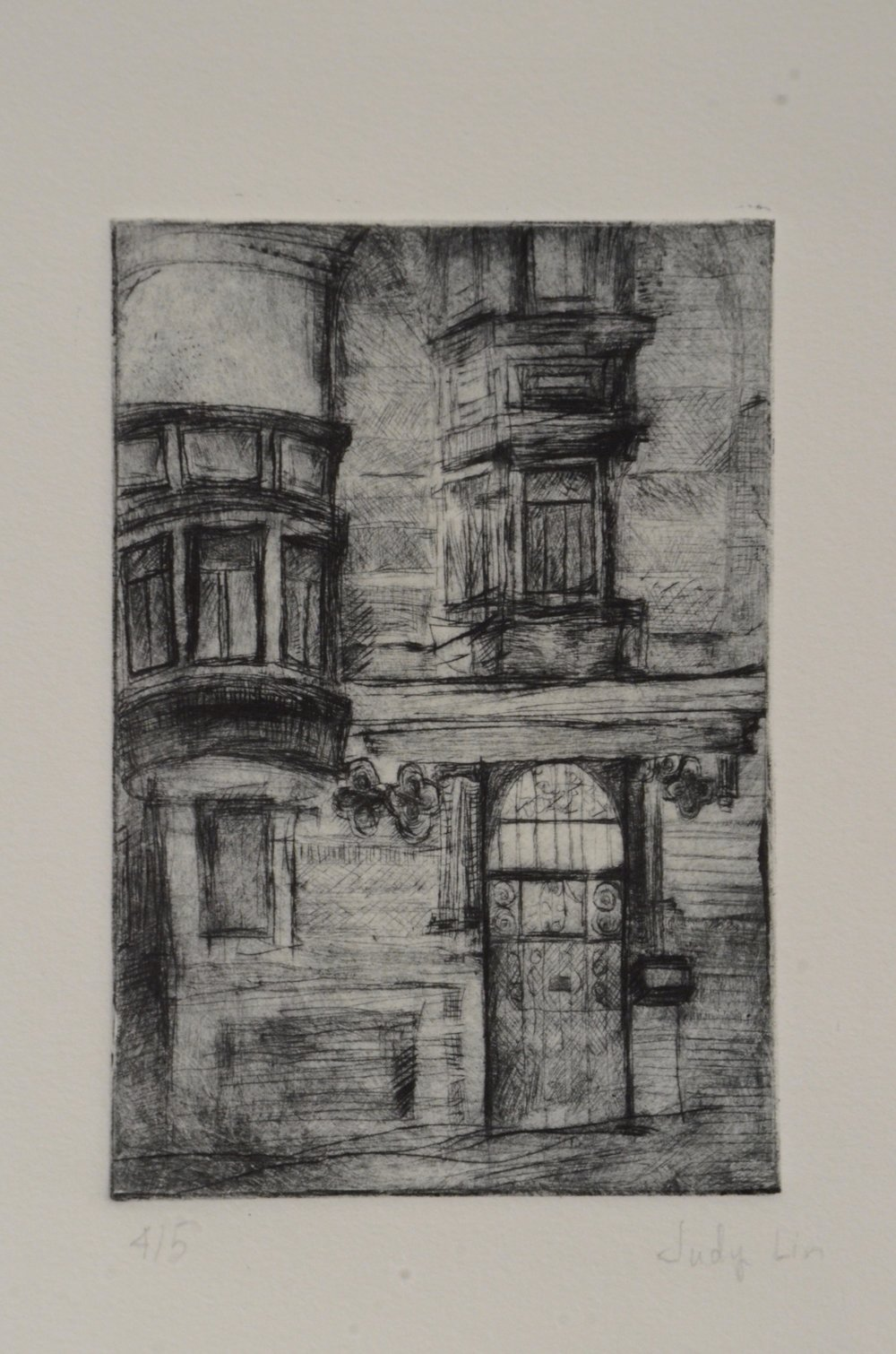 Judy Lin  Drypoint  Introduction to Printmaking