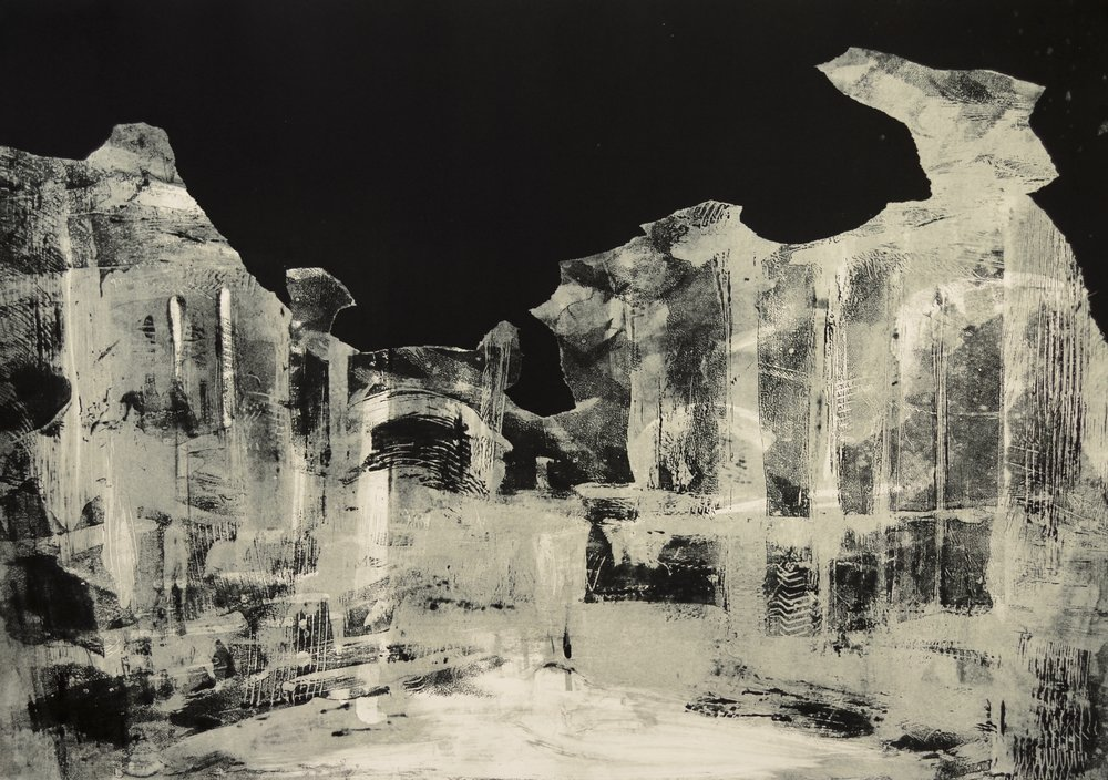 "Remains  Monotype  29"" x 41"""
