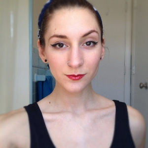 Amazing how a simple red lip can pull a look together!