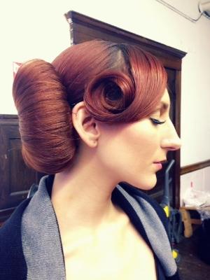 Amazing hairstyle courtesy of Nancy / Fabulous makeup courtesy of Joanna