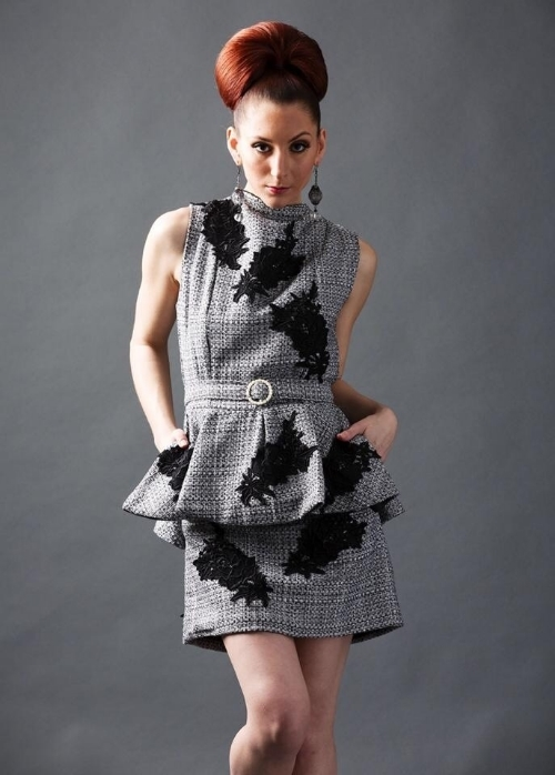 Drea Designs Couture twill wool dress