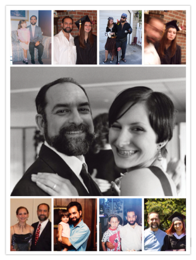 Father and Daughter throughout the years