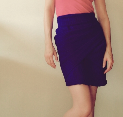 """Example of a """"short skirt"""", essentially, above the knee"""