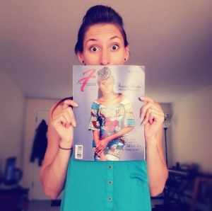 Holding a copy of the first magazine I was published in, i-Fashion Magazine Spring 2014