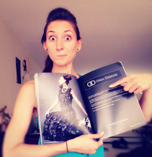 First page I'm featured in of the i-Fashion Magazine Spring 2014 publication with Dan Minicucci Photography, Drea Designs, NV My Hair, and Visage1 Studio's. This is my super excited face for anyone who doesn't know me yet.