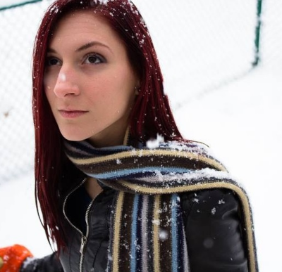 Burgundy red hair compliments of Tanya Amalfitano January 2014