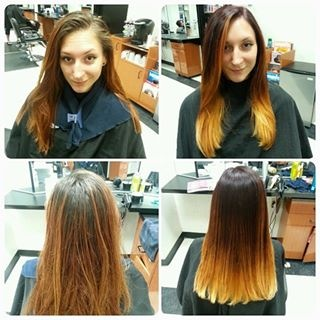 Before and After by Tanya Amalfitano 2014 (straightened hair)