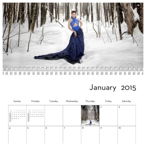 Preview of 2015 Calendar featuring Dan Minicucci Photography and Side B Modeling
