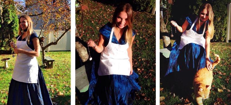 "Lauren of food blog ""Playing Martha"" as Alice in Wonderland"