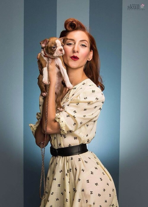 Halloween Costume Idea: 50's Housewife or Pinup Girl (Credits to Tanya Amalfitano Makeup and Little Skull Photography)