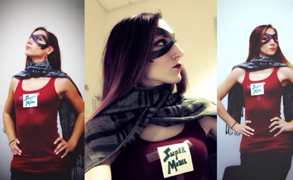 """Super Hero Costume: I was a """"Super Model"""" (I thought it was funny)"""