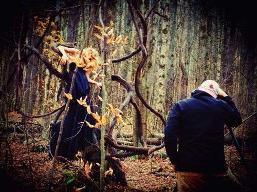 Behind the scenes sneak peak of Meg Shaw and Dan Minicucci Photography creating magic
