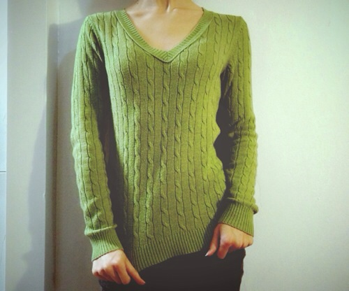 This sweater is super soft and I love the deep V-neck on it