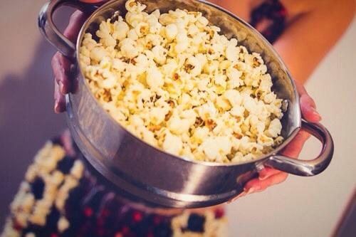 BTS of the food challenge-popcorn