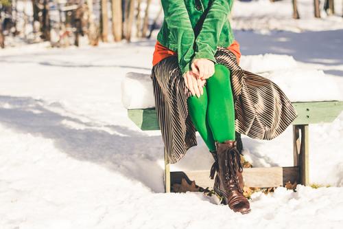 Multi-function item-leggings in the snow
