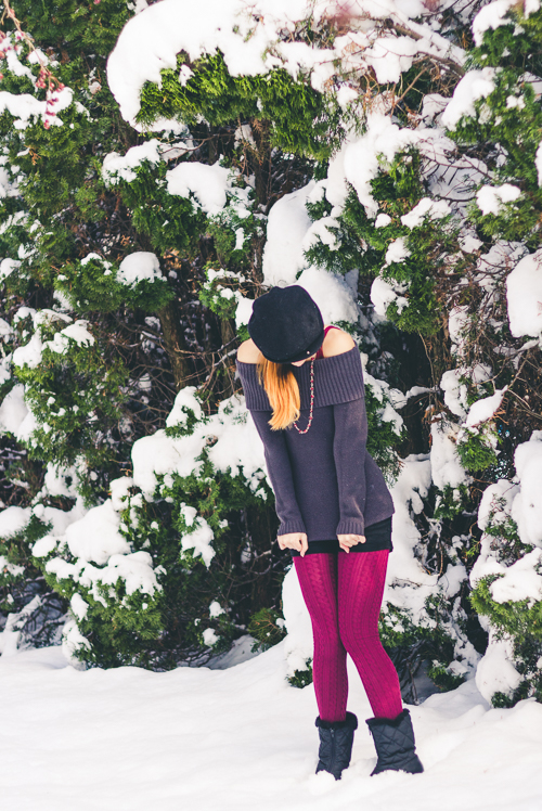 """This was supposed to be a """"Fall"""" post...but Winter came early. Good thing my leggings are warm!"""