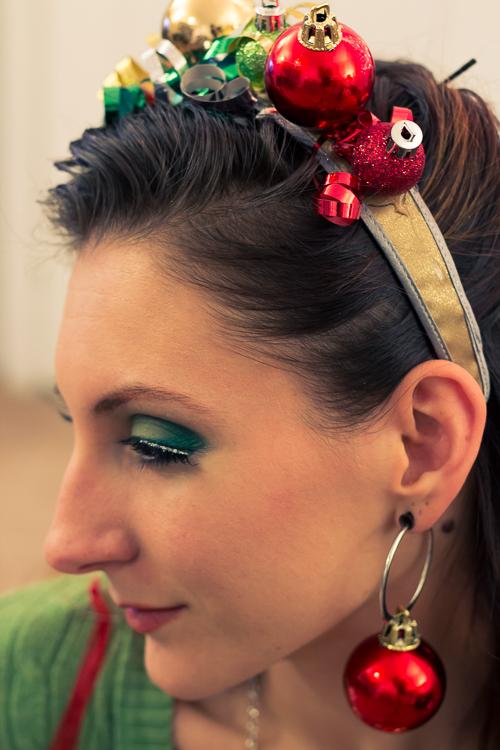 Ugly Christmas Accessory- Headband and earrings