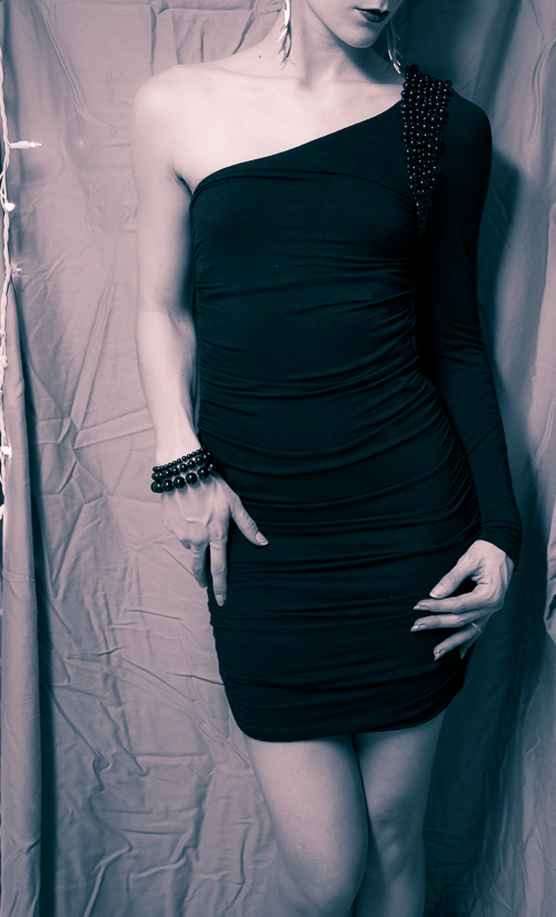 Little Black Dress in Black and White (Classy upon classy)