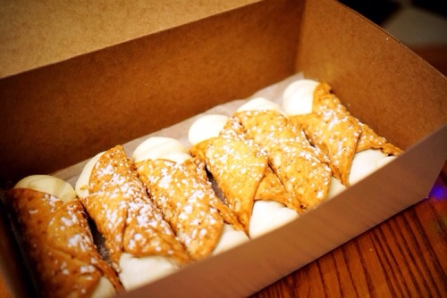 Cannoli's from the Bakery in town