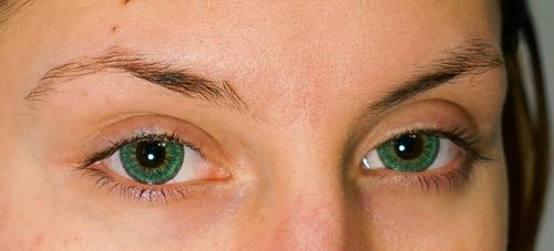 Close up of my new Green Circle Lenses