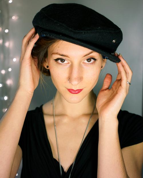 I love stylish hats - they make any hairdo look more sleek