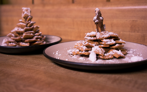 """Front: ugly step-sibling Pinterest fail; Back: a decent attemptat""""Snowy Pinecone Treat"""""""