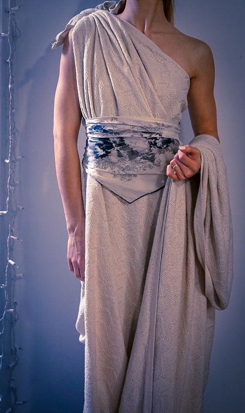 Winter toga - also known as toga created from a heavy blanket...
