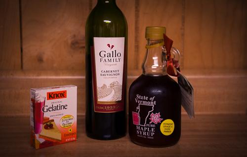 """Ingredients to create """"Wine Gummies"""""""
