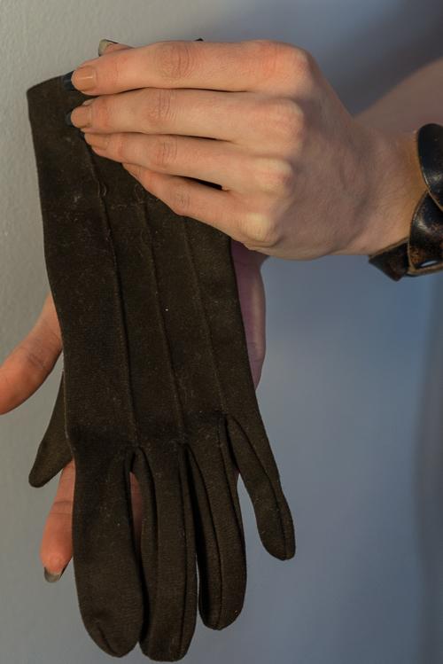 Wrist brace before - aka: a glove