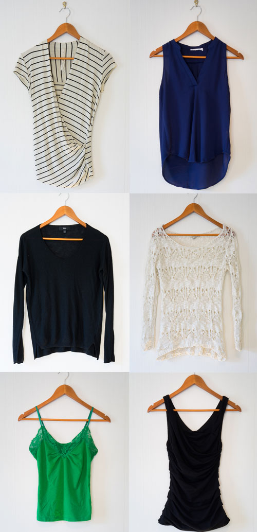 All light weight tops, including light weight sweaters for layering in Spring