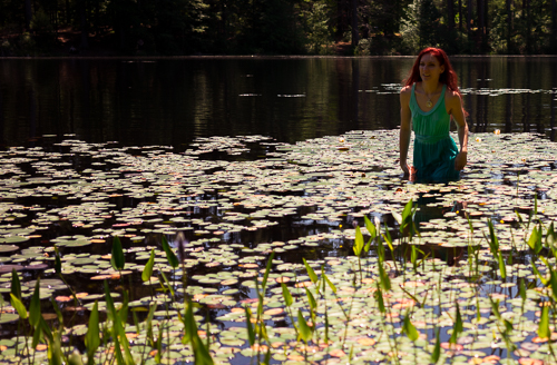 Lily pads are beautiful...but as I quickly found out,feel disgusting towalk through...