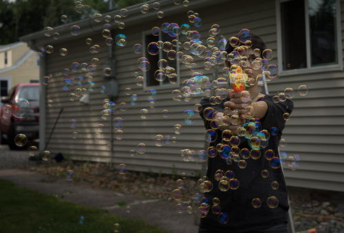 Bubble master at work