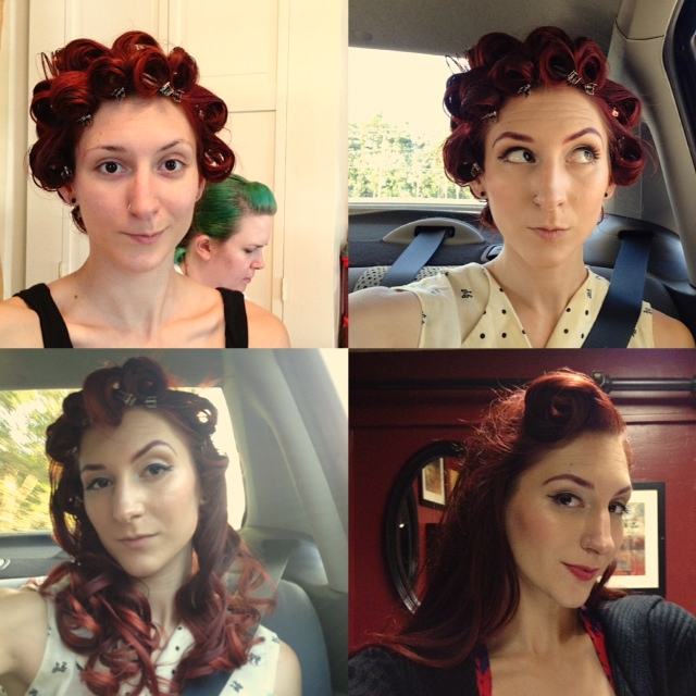 BTS moments:Hair and makeup progression