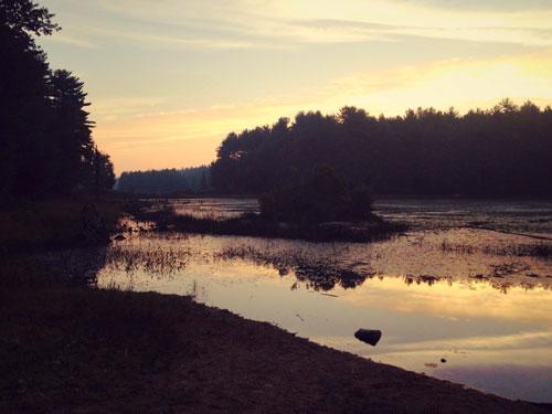 Sunrise over Beaver Brook