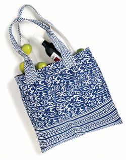 the indigo cotton tote