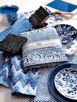 tag indigo block print collection