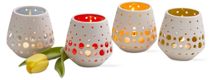 tag inner glow pierced tealight holders