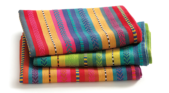 artisan stripe dishtowels set of 3