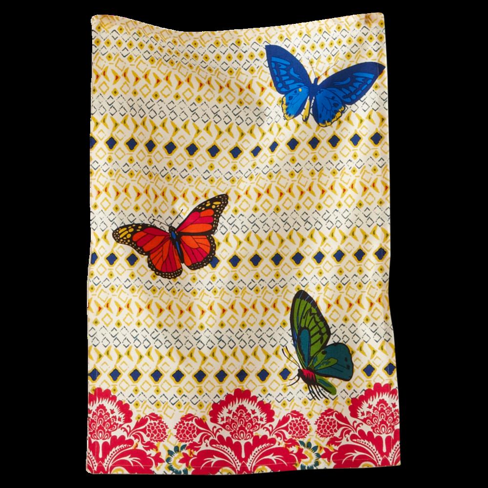 bangalore butterfly dishtowel