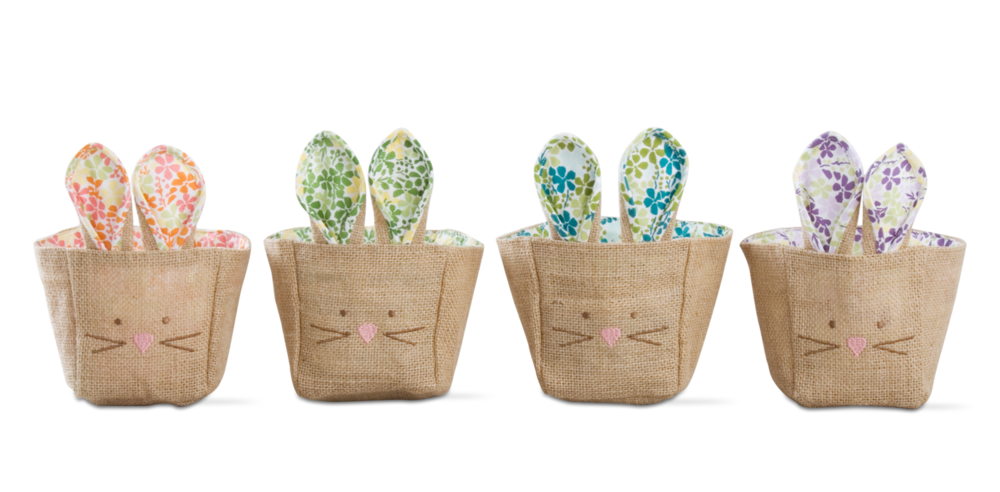 petite bunny burlap baskets