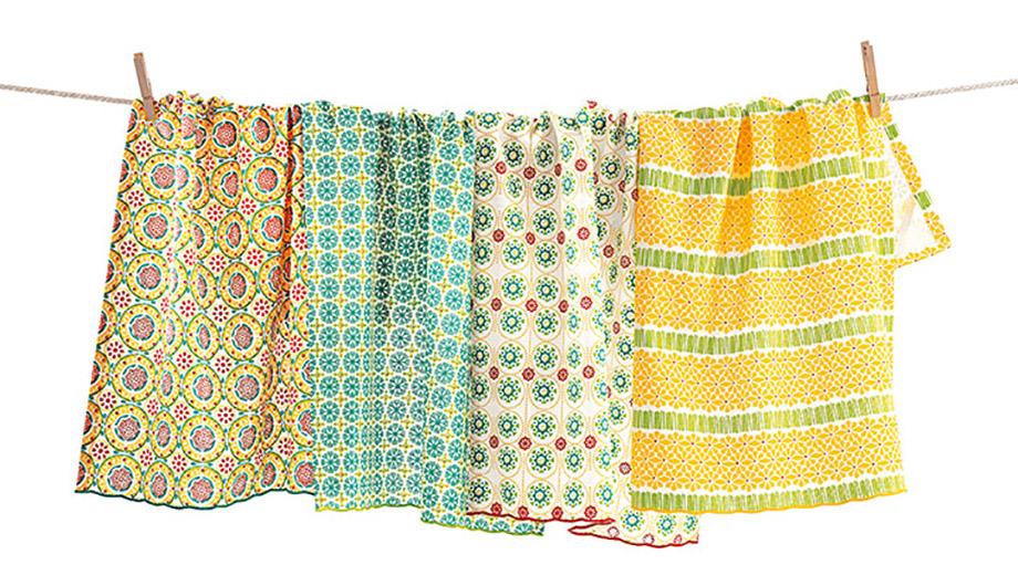 primrose tea dishtowels, set of 4