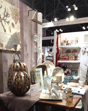 "tag's New York Gift Show display featuring ""Coastal"" items. See SS2017 catalog pages 99 and 112."