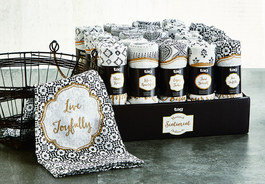 henna flour sack dishtowel assortment with CDU