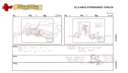 Eli & Amos Storyboards: Cowlick