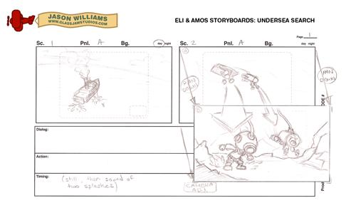 Eli & Amos Storyboards: Undersea Search