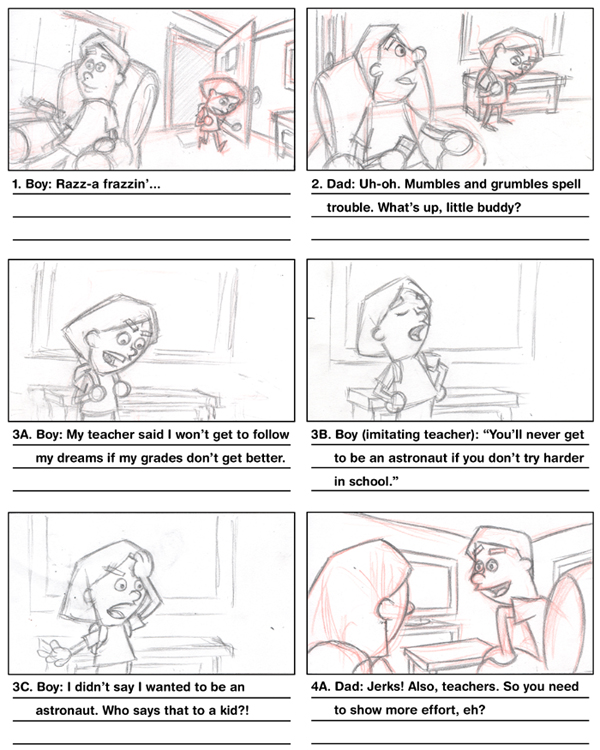 Soapbox Derby Storyboards Page 1
