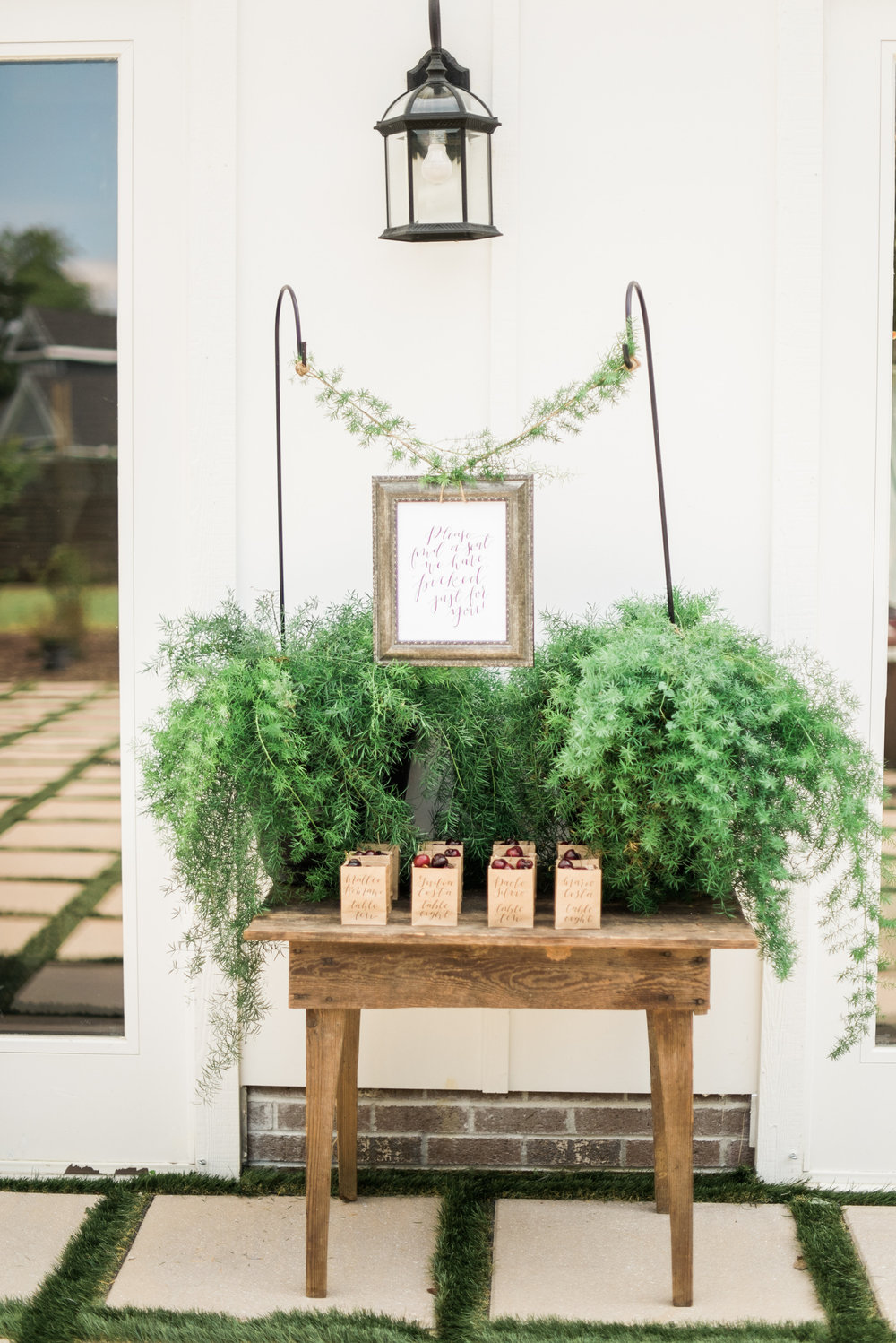 These potted plants were a unique way to frame the seating display and can also be used after the wedding in your own home!