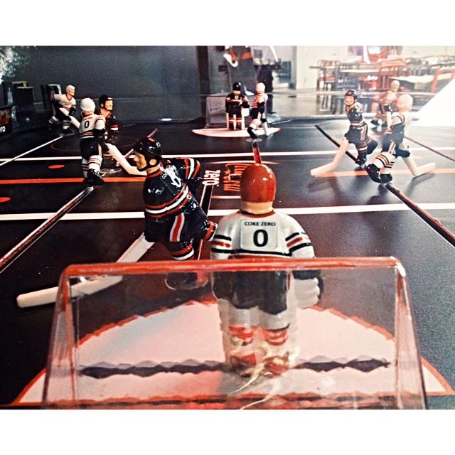 Coca-Cola hockey foosball.