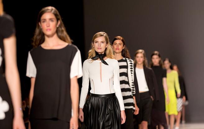 Toronto Fashion Week: Pink Tartan Spring 2014-. Image: Jenna Marie Wakani